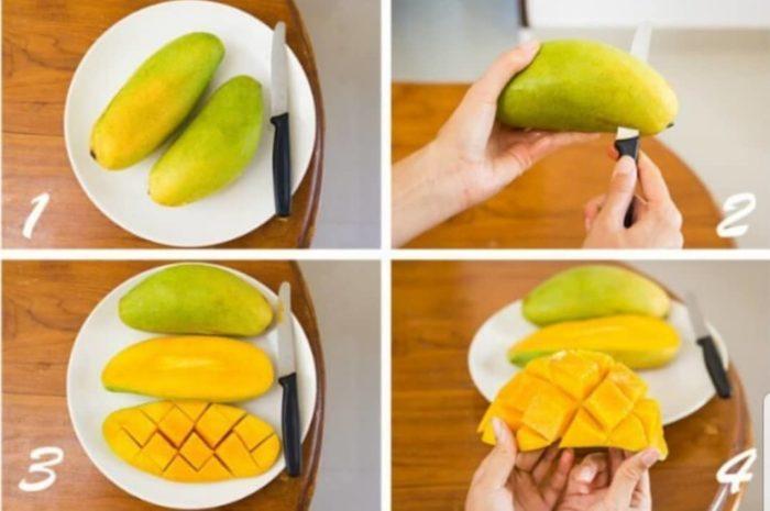 Как правильно резать манго