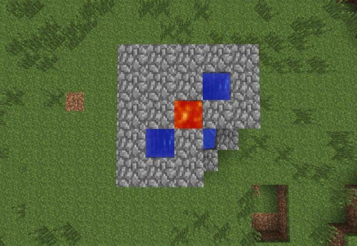 Как сделать генератор булыжника в Майнкрафт