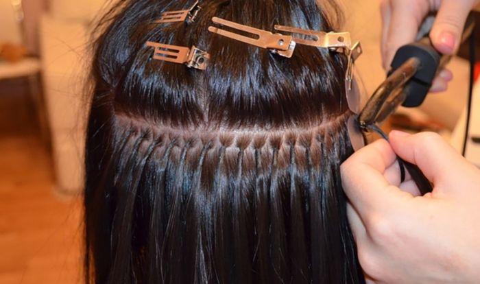 Как наращивают волосы