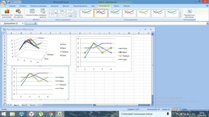 Как сделать график в Excel