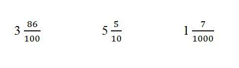 Как перевести десятичную дробь в обычную