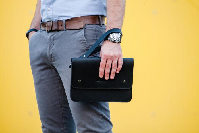 Кожаная барсетка: важный аксессуар для стильного мужчины