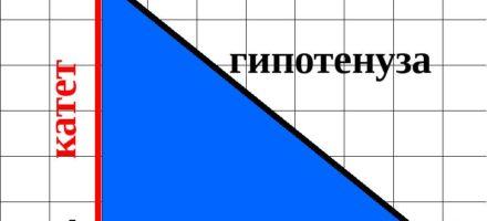 Как найти катет прямоугольного треугольника