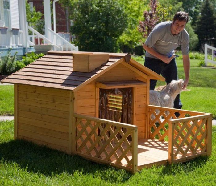 Как построить будку для собаки своими руками