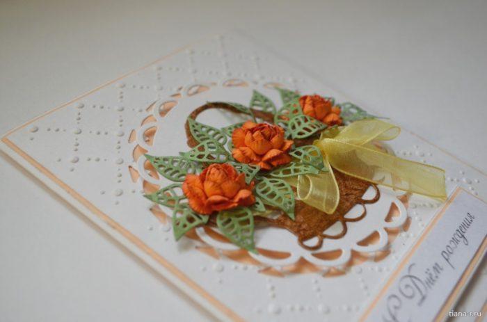 Как сделать открытку на день рождения маме