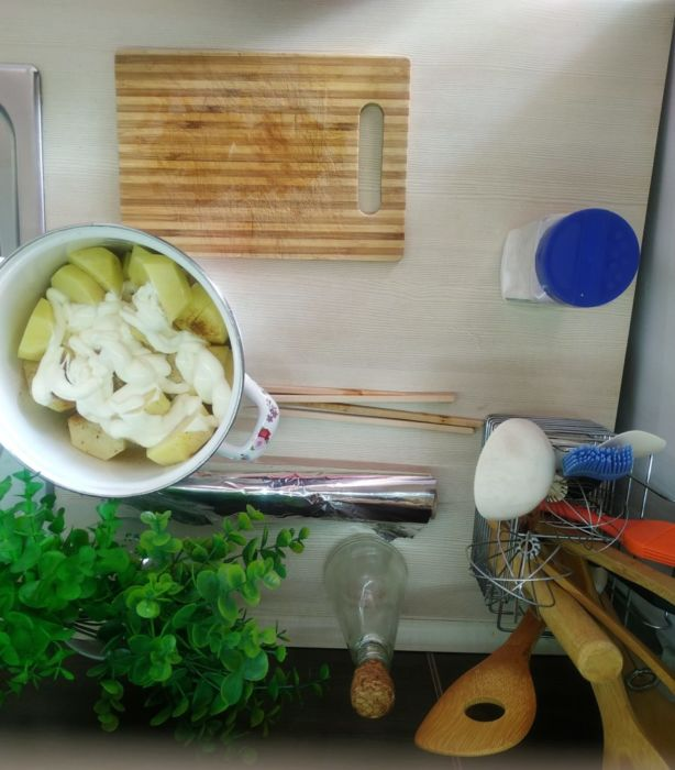 Бедро индейки с картофелем