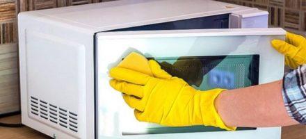 Как отмыть микроволновку