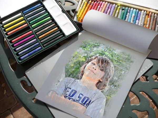Сделать рисунок из фото онлайн