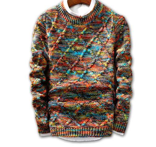 Супер свитер мультиколор