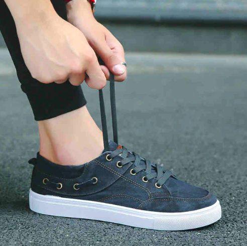 Кеды с боковой шнуровкой
