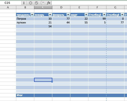 Как сделать таблицу в Экселе