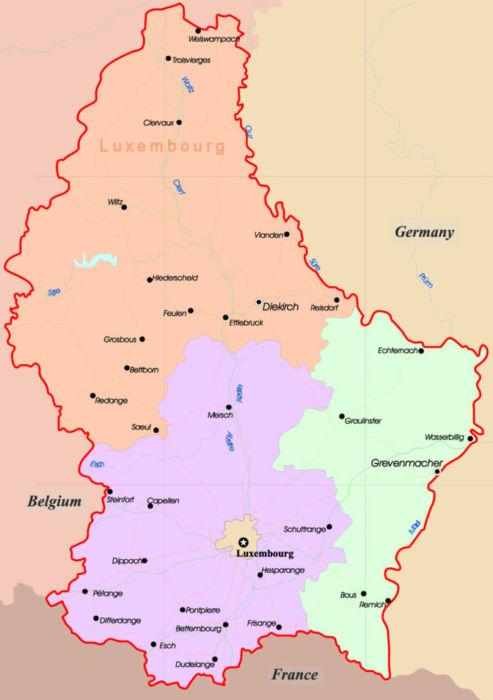 Где находится Люксембург