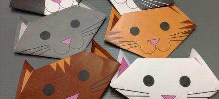 Как сделать из бумаги кота