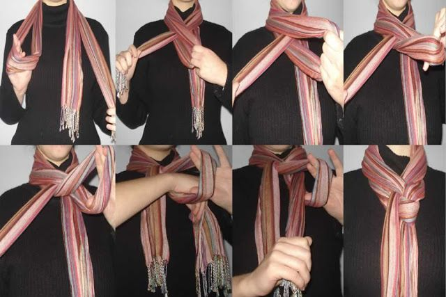 Как носить шарф