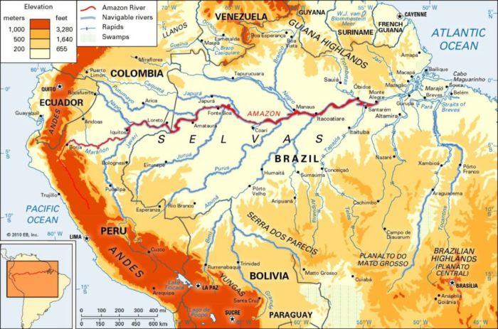 Где находится река Амазонка