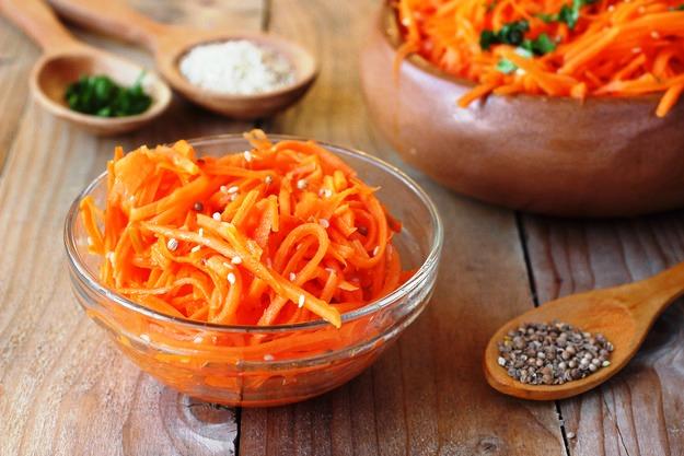 Как приготовить морковь по корейски