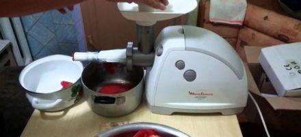 Обзор электромясорубки с насадкой для томатов