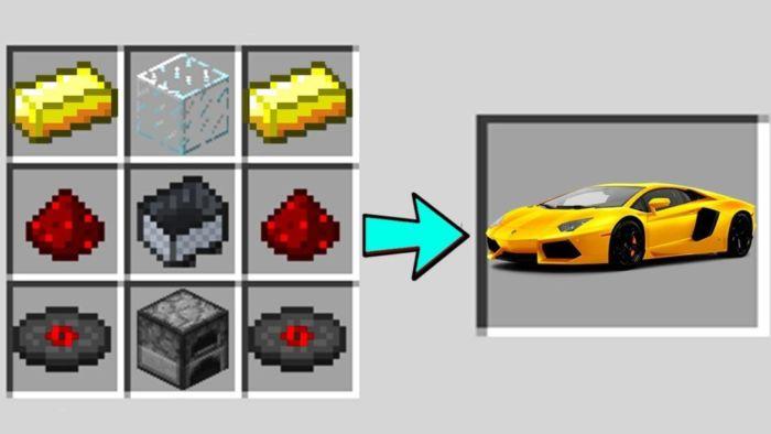 Как построить в Майнкрафте машину
