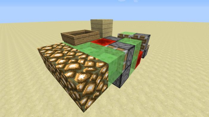 Как построить машину в Майнкрафте