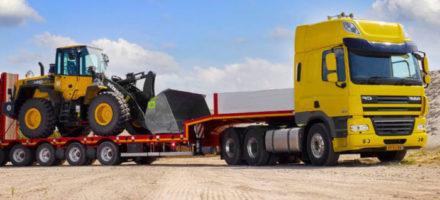 Транспортировка негабаритных грузов тралом