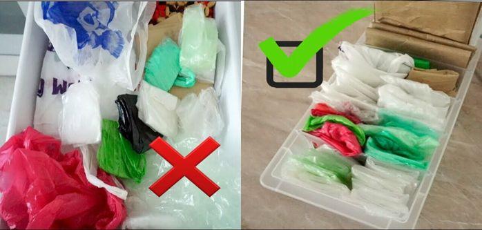 Куда складывать пакеты на кухне и где хранить?