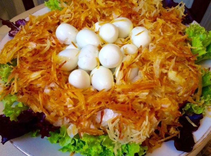 Салат «Гнездо глухаря», классический рецепт