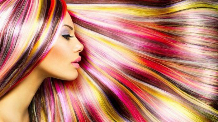 Покрасить волосы гофрированной бумагой