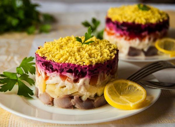 Салат «Шуба», классический рецепт