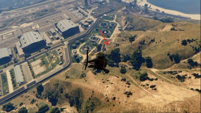 Где находится военная база в ГТА-5