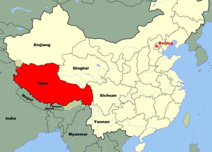 Где находится Тибет, в какой стране