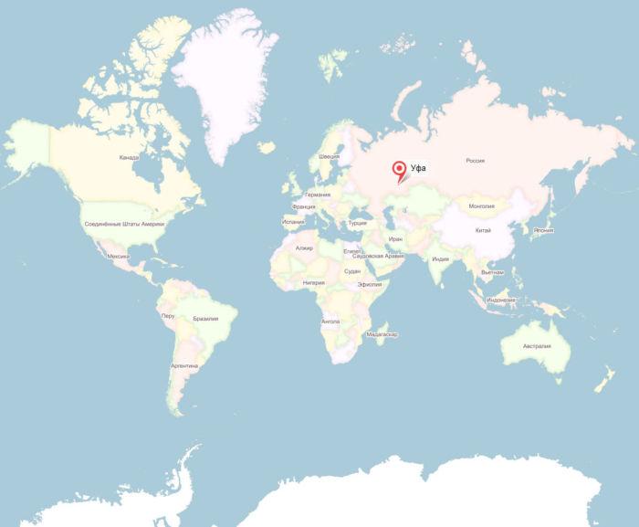 Где находится Уфа