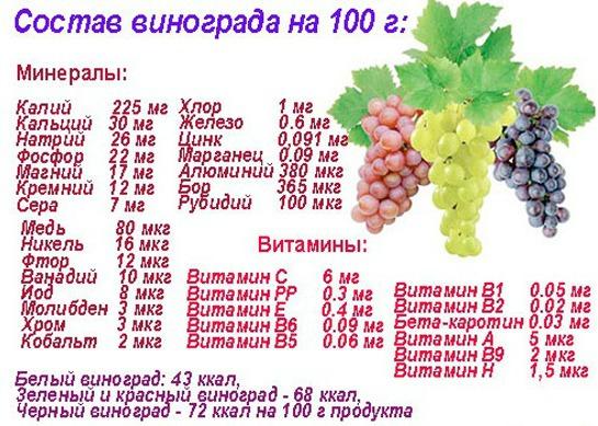 Чем полезен виноград для организма человека