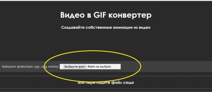 Сделать гиф онлайн из видео