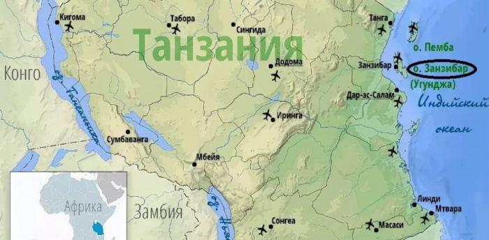 Где находится Занзибар