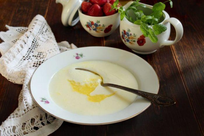 Сварить манную кашу на молоке пропорции